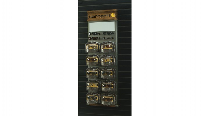 Carhartt 20 Unit Slat Wall Display