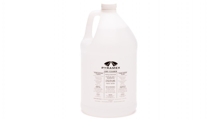 Gallon of lens cleaning solution