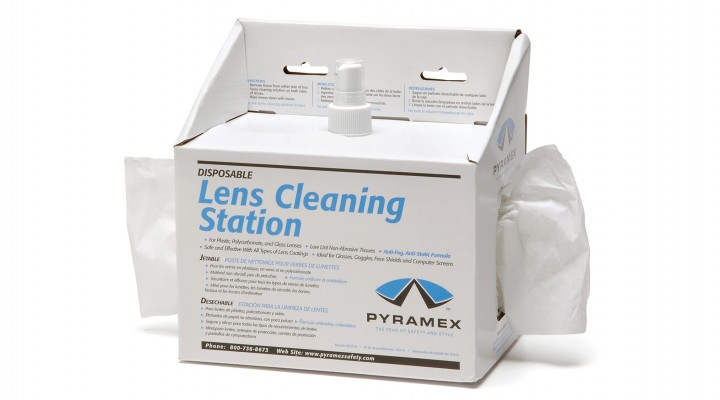 Lens cleaning station with 8 oz. cleaning solution 600 tissues