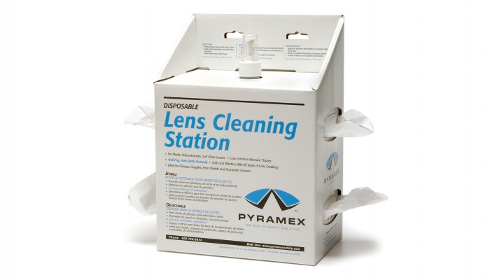 Lens cleaning station with 16 oz. cleaning solution 1200 tissues