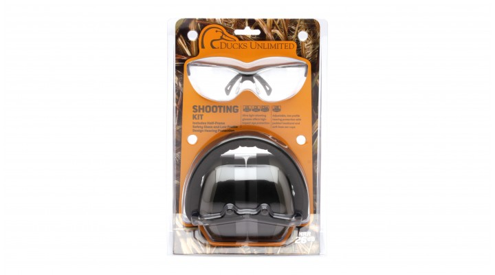 PM8010 Earmuff with Venture 3 Black Frame and Clear Lens