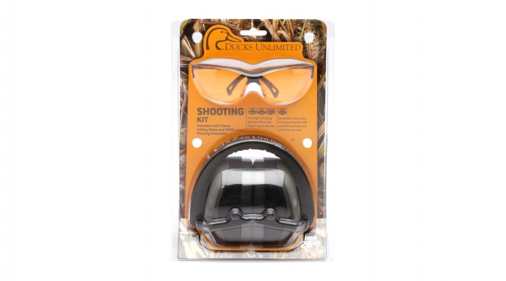 PM8010 Earmuff with Venture 3 Black Frame and Orange Lens