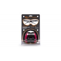 PM8010 Earmuff with Ever-Lite Black Frame and Pink Lens