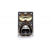 PM8010 Earmuff with Ever-Lite Black Frame and Amber Lens