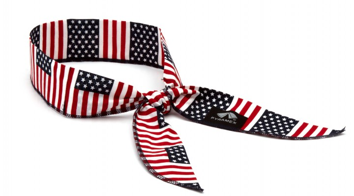 Cooling Beaded Bandana - American Flag  - 12 pack