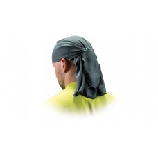 Gray Skull Cap with Ties