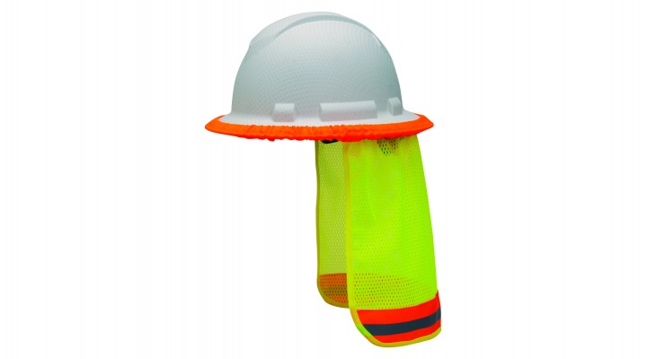 Hi-vis Yellow Hard Hat Neck Shade