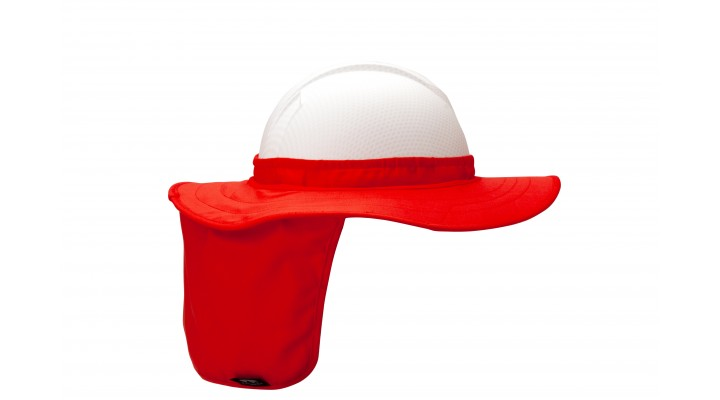 Hi-vis Orange Hard Hat Brim with Neck Shade