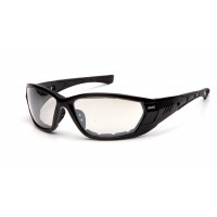 Indoor/Outdoor Mirror Anti-Fog Lens with Padded Foam Black Frame