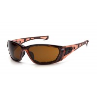 Coffee Anti-Fog Lens with Padded Translucent Brown Frame