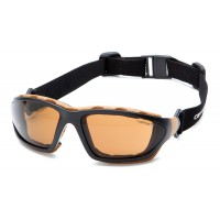 Sandstone Bronze Anti-Fog Lens with Black/Tan Frame (polybag)