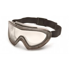 Gray Direct/Indirect Goggle with Clear H2X Anti-Fog Lens