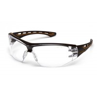 Clear Anti-Fog Lens with Black and Tan Frame (polybag)
