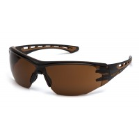 Sandstone Bronze Anti-Fog Lens with Black and Tan Frame (polybag)
