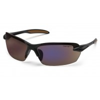 Blue Mirror Polarized Lens with Black Frame