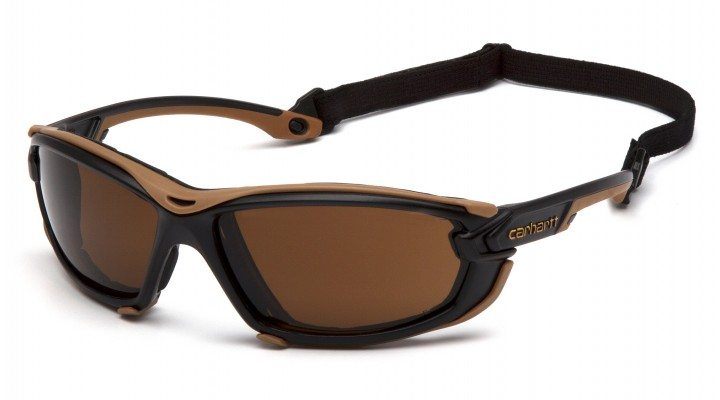 Sandstone Bronze H2MAX Anti-Fog Lens with Black and Tan Frame (polybag)