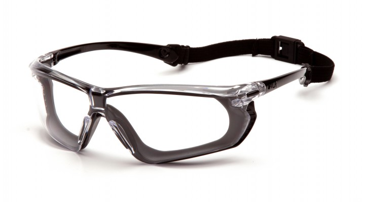 Clear H2X Anti-Fog Lens with Black and Gray Frame