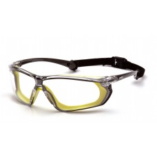 Clear H2X Anti-Fog Lens with Gray and Lime Frame