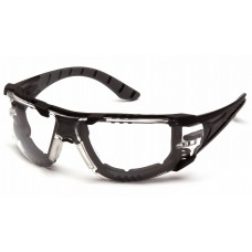 Clear H2MAX Anti-Fog Lens with Black and Gray Temples with Foam Padding