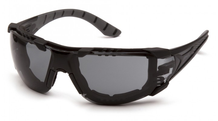 Gray H2MAX Anti-Fog Lens with Black and Gray Temples with Foam Padding