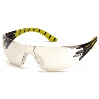Indoor/Outdoor Mirror Lens with Black and Green Temples