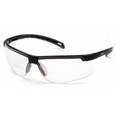 Clear +2.0 Lens with Black Frame
