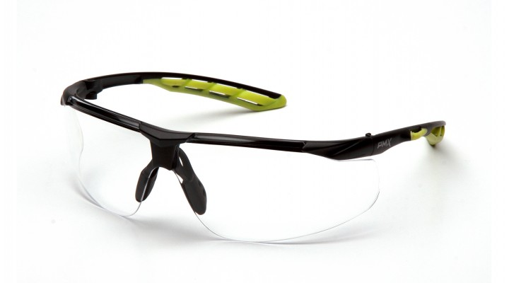 Clear H2MAX Anti-Fog Lens with Black and Lime Frame