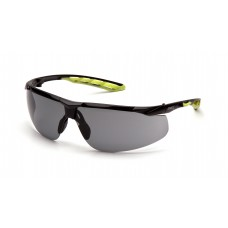 Gray H2MAX Anti-Fog Lens with Black and Lime Frame