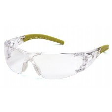 Clear Lens with Lime Temples