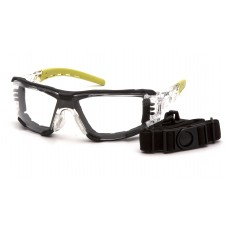 Clear H2MAX Anti-Fog Lens with Lime Temples
