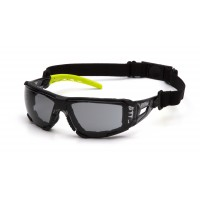 Gray H2MAX Anti-Fog Lens with Lime Temples