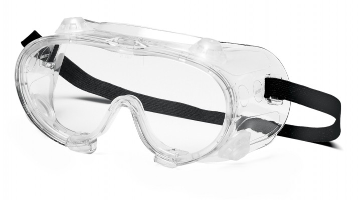 Clear Anti-Fog Chemical Goggle