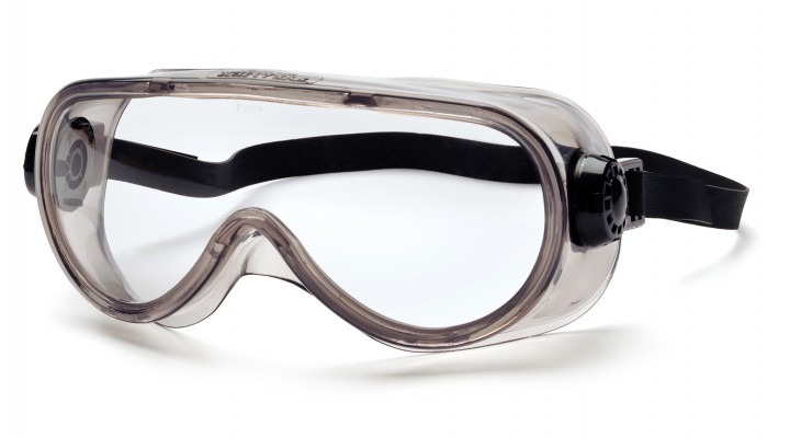 Clear H2X Anti-Fog Top Shelf Chemical Splash Goggle with Neoprene Strap