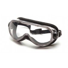 Clear H2X Anti-Fog Top Shelf Chemical Splash Goggle with Foam Padding