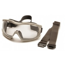 Chemical Splash Goggle with Clear H2X Anti-fog Lens and Gray Frame
