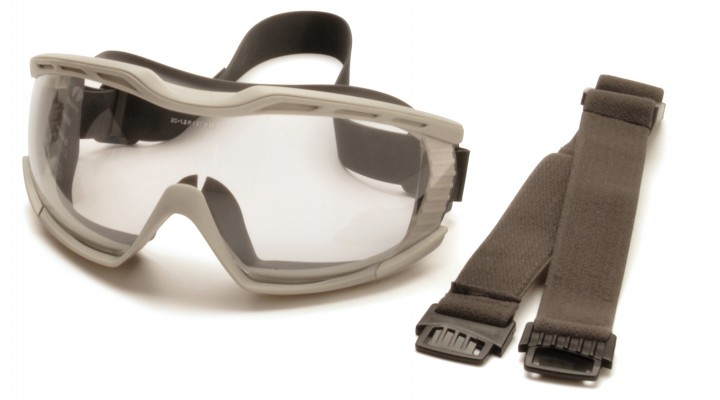 Chemical Splash Goggle with Clear Anti-fog Lens and Gray Frame
