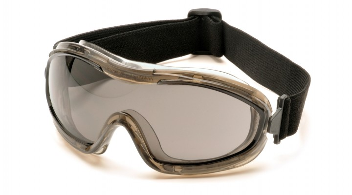 Low Profile Goggle with Gray Anti-Fog Lens