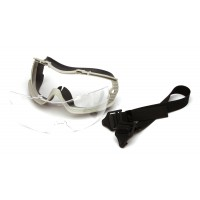 Clear H2X Anti-Fog Lens with Gray Body and Adjustable Neoprene Strap