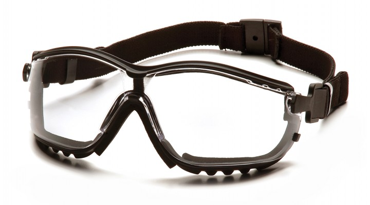 Clear H2X Anti-Fog Lens with Black Strap/Temples