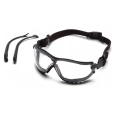 Clear Anti-Fog Lens with Black Strap/Temples