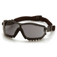 Gray H2X Anti-Fog Lens with Black Strap/Temples