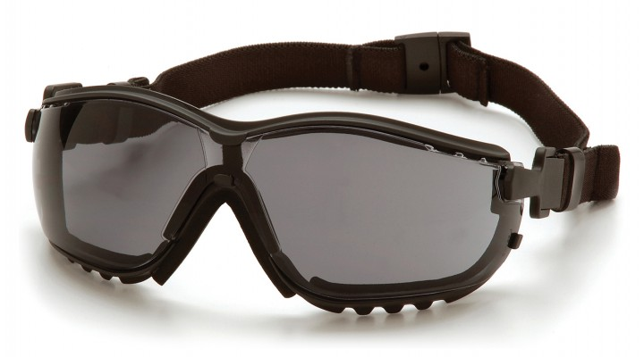 Gray H2MAX Anti-Fog Lens with Black Strap/Temples