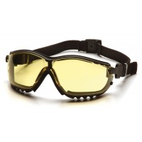 Amber H2X Anti-Fog Lens with Black Strap/Temples
