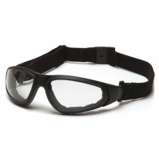 Clear H2MAX Anti-Fog Lens with Black Strap/Temples