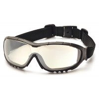 Indoor/Outdoor Mirror Anti-Fog Lens with Black Strap/Temples