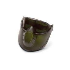 Capstone Green Tinted Face shield with IR5 H2X Anti-Fog Lens Goggle