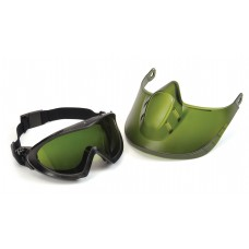 Capstone Green Tinted Face Shield with IR3 H2X Anti-Fog Lens Goggle