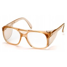 Clear Lens with Caramel Frame
