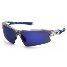 Ice Blue Mirror Lens with Clear/Blue Frame