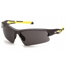 Gray Lens with Gun Metal/Hi-vis Yellow Frame